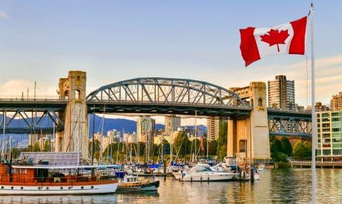 Burrard Street Bridge på Granville Island i Vancouver