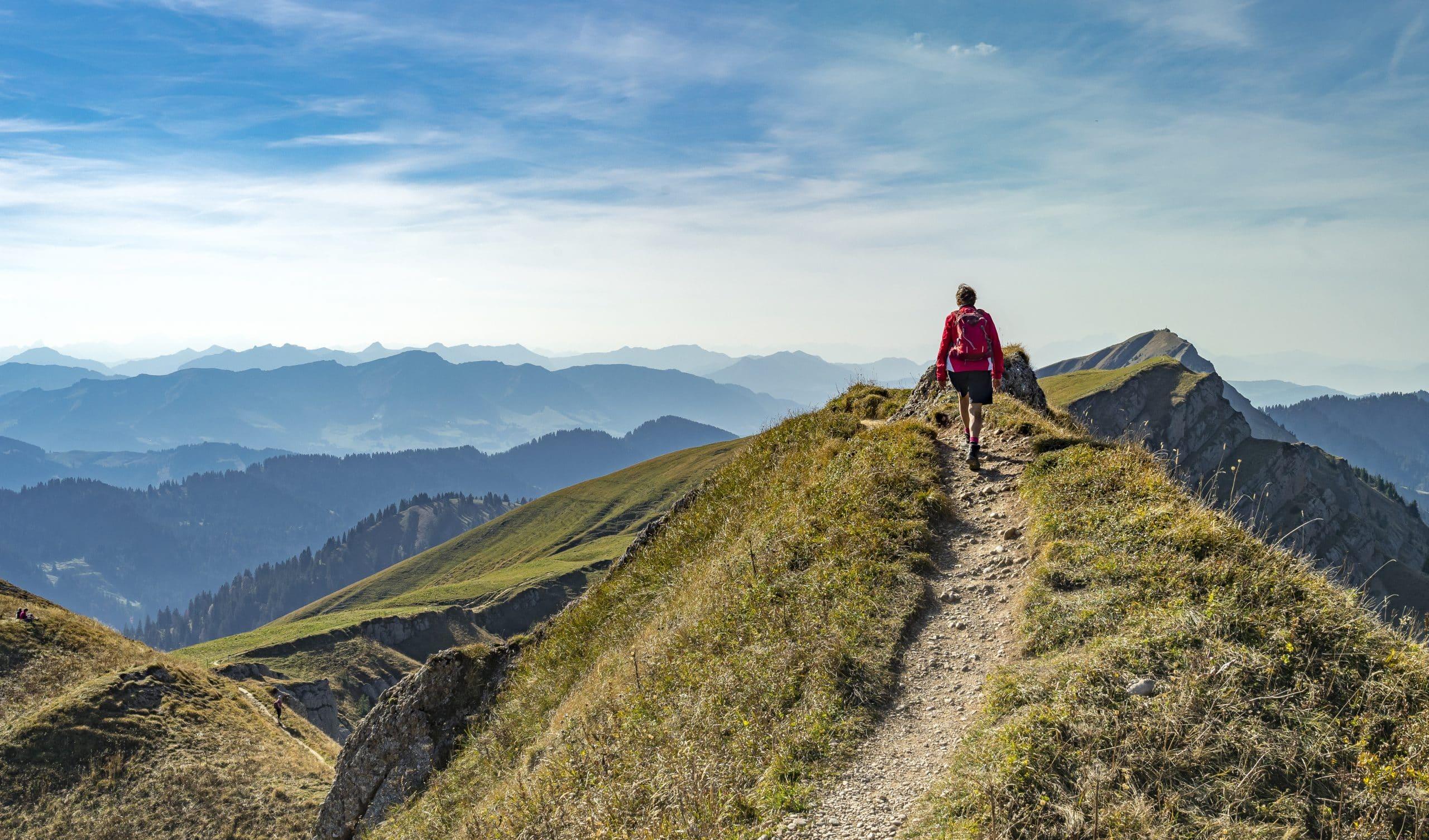 Smuk udsigt fra vandrerute i Europa