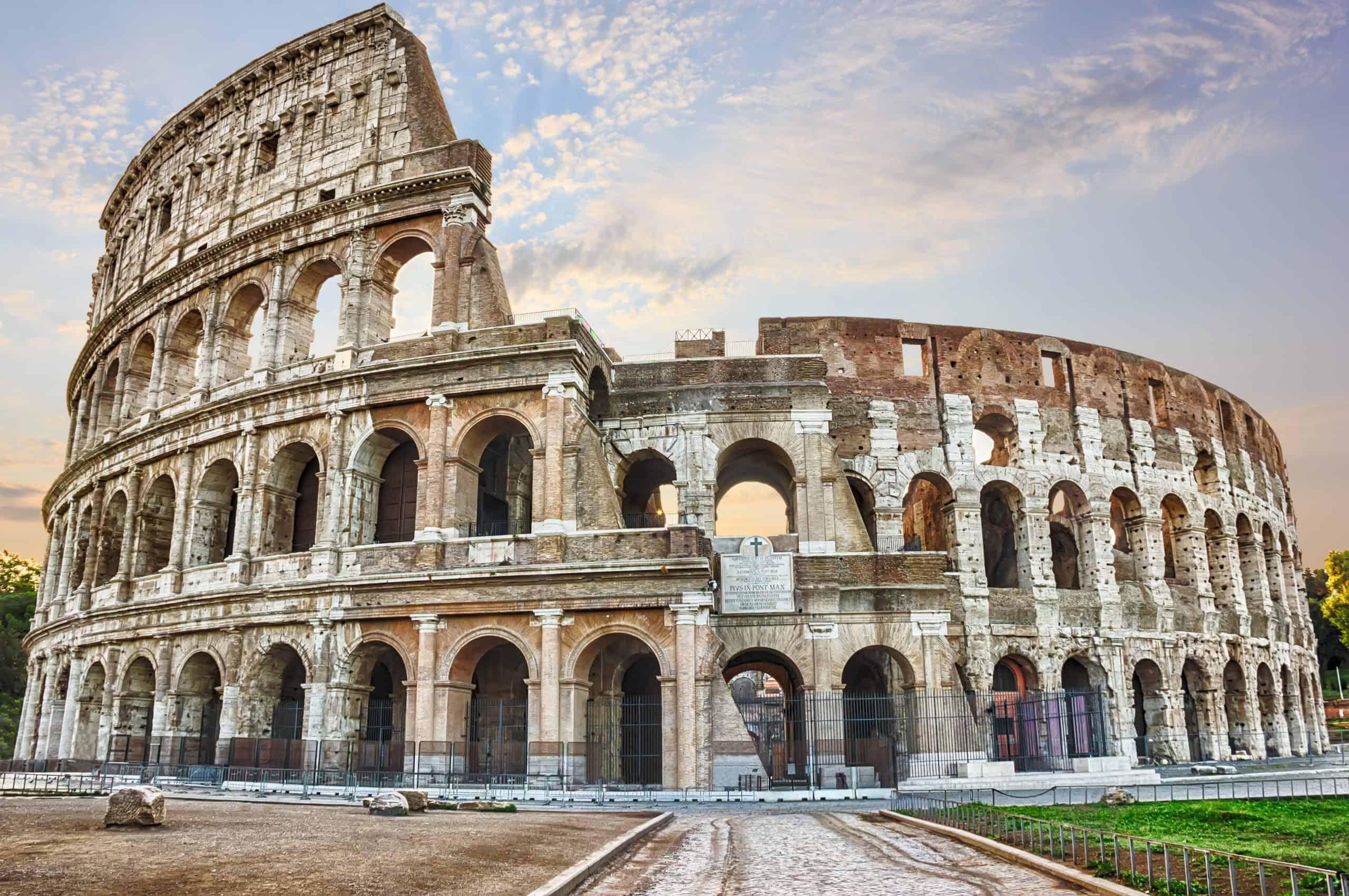 Det verdensberømte, antikke Colosseum i Rom
