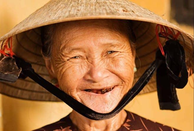Over alt mødes du af smil fra den vietnamesiske lokalbefolkning