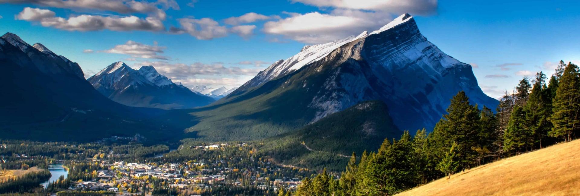 Smukke bjergudsigter i Canada