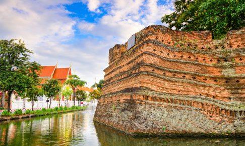 Rester af den gamle bymur i Chiang Mai