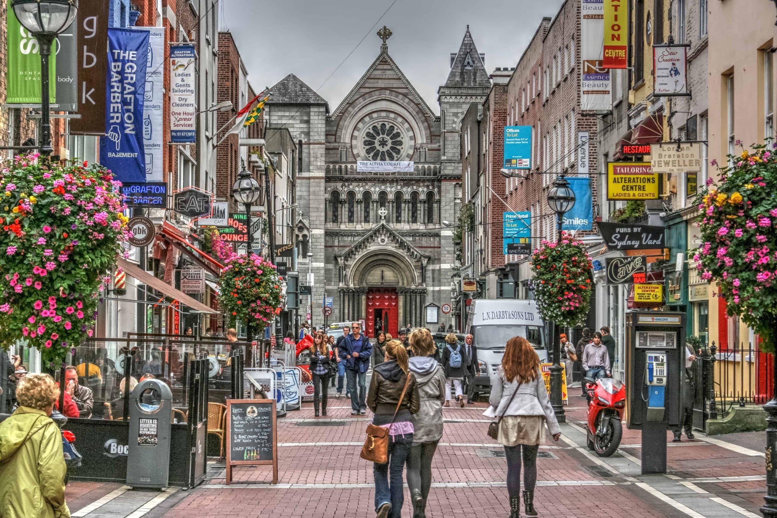 Grafton Street i Dublin, Irland - Risskov Rejser