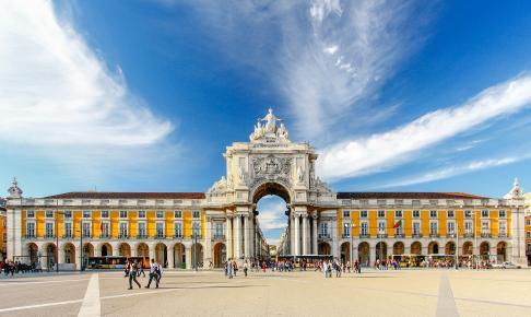 Praca do Comercio, Lissabon, Portugal - Risskov Rejser