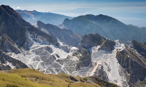Marmorbruddene ved Carrara, Toscana, Italien - Risskov Rejser