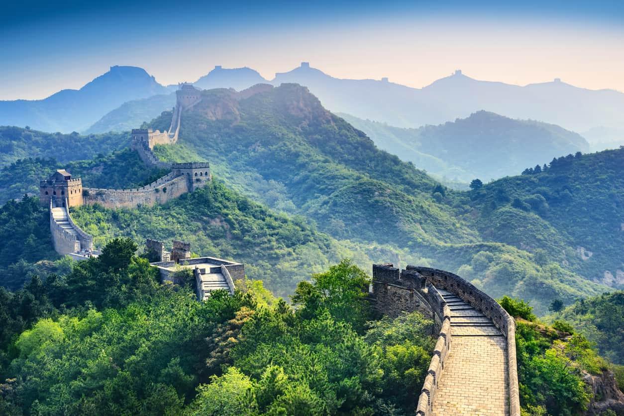 Den kinesiske mur i Kina