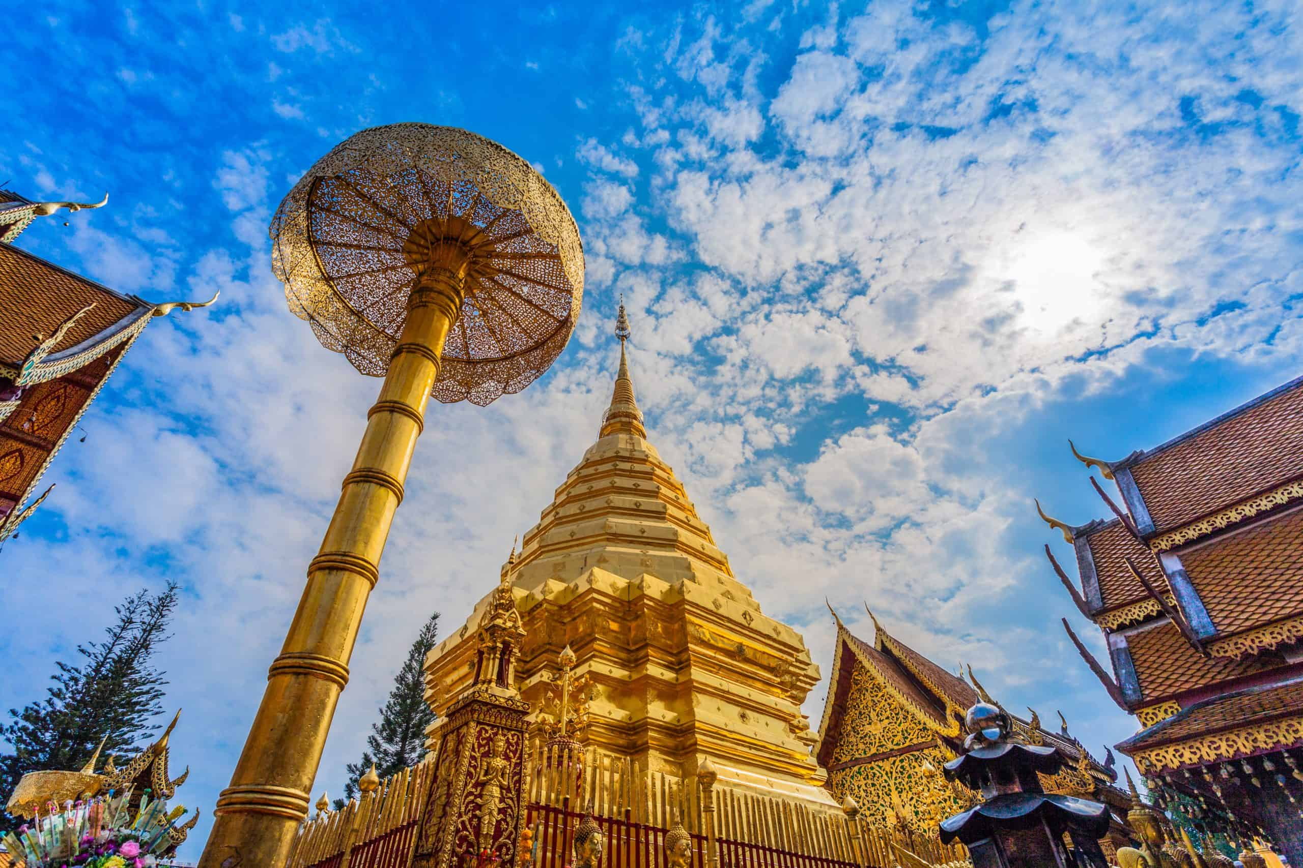 Den gyldne pagode Doi Suthep