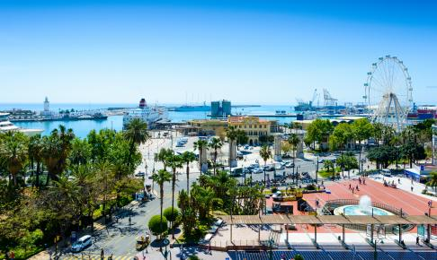 Plaza de Marina i Malaga, Spanien - Risskov Rejser