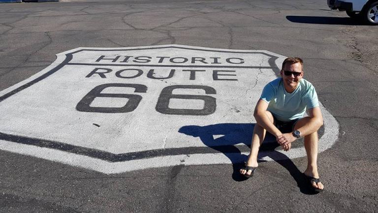 Thomas Kirkeby Krogh på Route 66 i USA - Risskov Rejser